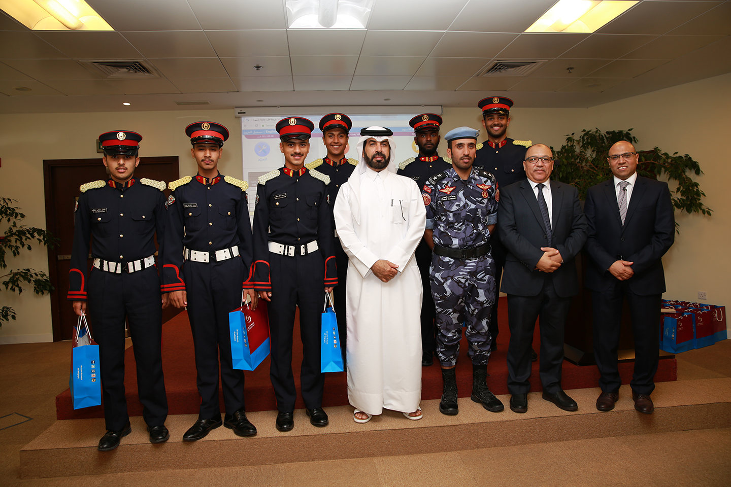 Group Photo of Military College Visit